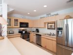 Ample counter space to prepare lunches for a beach picnic or a gourmet dinner for 9
