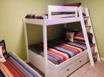 New Custom Built Twin over Full Bunks and Twin Bed in Guest Room