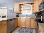 Remodeled kitchen with granite counter tops and all new appliances