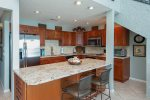 Beautiful, well stocked, updated kitchen with granite countertops