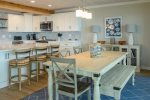 Beautifully remodeled kitchen and new dining table - counter seating also available