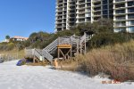 Stairs from the beach at One Seagrove Place