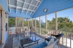 2nd floor master bedroom offers beautiful queen bed