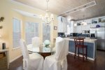 Beautiful old florida style living area with flat screen TV