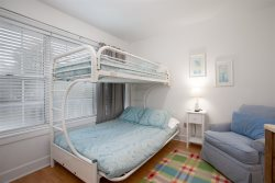 3rd bedroom with twin over full bunk sleeps 3