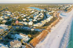 Enjoy the private hot tub at night