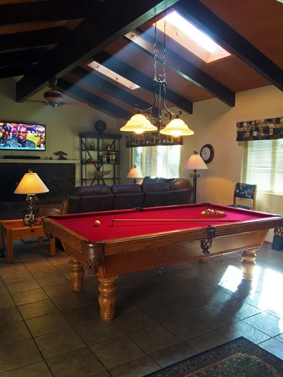 Perfect Location Very Close To Downtown Twain Harte Bocce Ball - How much room do you need for a pool table
