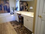 Master Bedroom Bath With Jacuzzi Tub And Double Sink Vanity