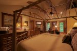 Amish canopied twig king bed