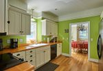 Fully equipped, bright, cheery kitchen