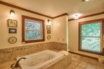 Private, master bath with jetted tub and heated floors