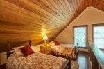 Loft features twin beds