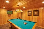 Shoot pool in the pool room
