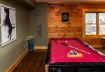 Pool Table located in the den.