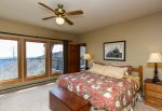 This second King Bedroom with a view is perfect for guests or family.