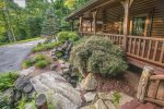 You will love the sound of this well designed water feature right off the porch.