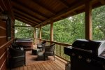 Deck with grill, hot tub and seating