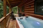 Soak in the relaxing hot tub