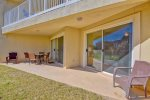 Enjoy the Ground Floor Patio. Just a Short Walk to the Beach.