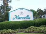 Welcome to Maravilla. The view of private gated entrance on Hiway 98.