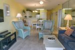 Visit With Your Family and Friends in the Spacious Living and Dining Area