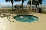 Relax in the Hot Tub at the Beachfront Pool