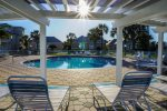 Take a cool break from the sun under the Gazebo at the 2nd Pool. Hot tub too