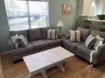 All new Comfortable Sleeper Sofa and Loveseat in the Living Room