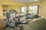 Maintain your exercise routine in the fitness center at the Clubhouse.