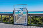 Walk Through the Beach Gate to Your Space on the Sugar White Private Beach