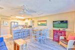 You`ll Enjoy the Large Flat Screen TV During Your Stay