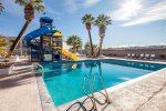 Community Outdoor Deep Pool w/ Slides 13ft