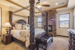 Master Bedroom - King Bed, Gas Fire Place, HD Flat Screen TV
