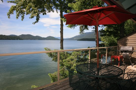 View of Whitefish Lake from your private deck