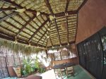 Outdoor covered palapa area