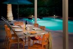 Poolside Dining Twilight