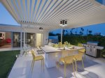 Lit Outdoor Dining Area