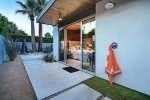 Outdoor Shower off Master Bedroom at Twilight