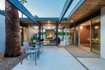 Iconic Eichler Interior Atrium at Twilight