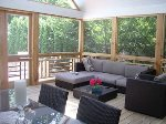 Screened in Porch with plenty of seating