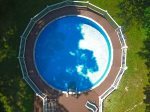Aerial view of pool