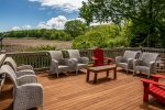 Gorgeous seating off deck