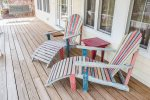 Outdoor seating on porch