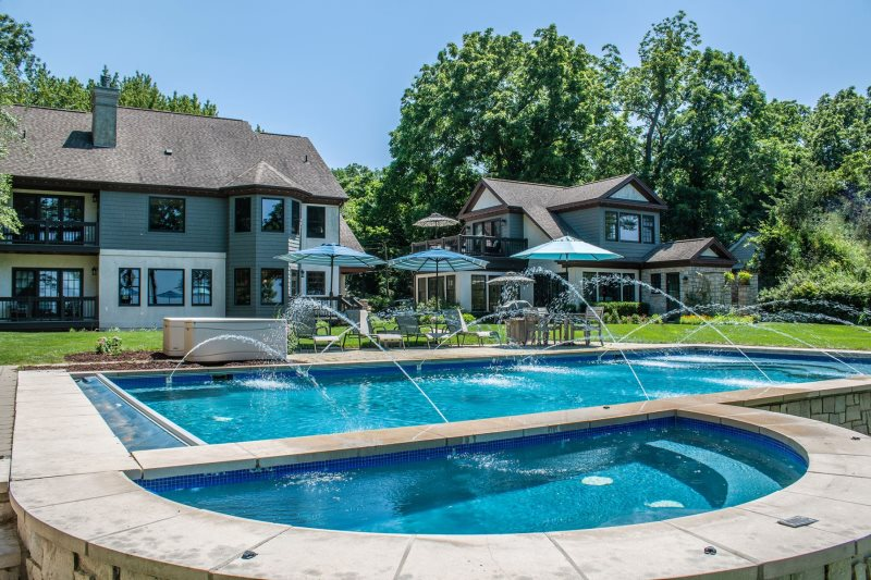 Shore Acres is a luxury lakefront pool house with 6 bedrooms located