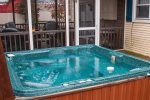 Professionally maintained hot tub
