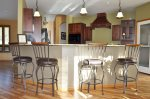 4 extra bar stools for additional dining space dining for 10 total