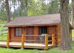 Updated Vintage 1930s Log Cabin at Custer Park Entrance & Stockade Lake