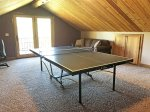 Cabin loft with ping pond table