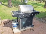 Propane BBQ grill for guests use