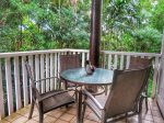 Spacious private lanai with garden view